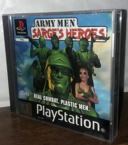 ARMY MEN SARGE'S HEROES REAL COMBAT. PLASTIC MEN.