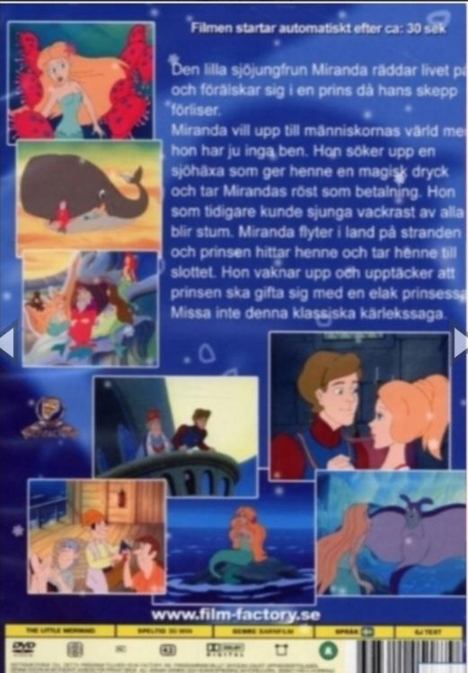Den lilla sjöjungfrun DVD
