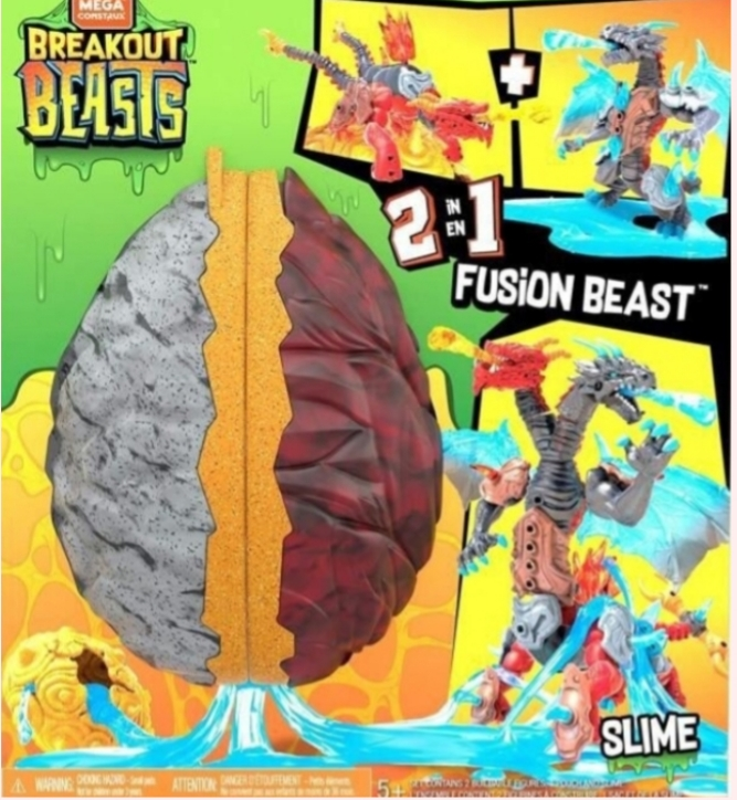 MEGA CONSTRUX BREAKOUT BEASTS SLIME EGG WITH FIGURE