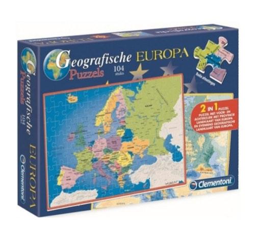 CLEMENTONI GEOGRAFISKT 2IN1 PUSSEL EUROPA 28X39CM