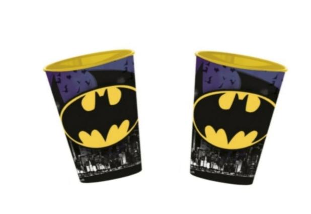 2 STYCKEN Plastmuggar Batman