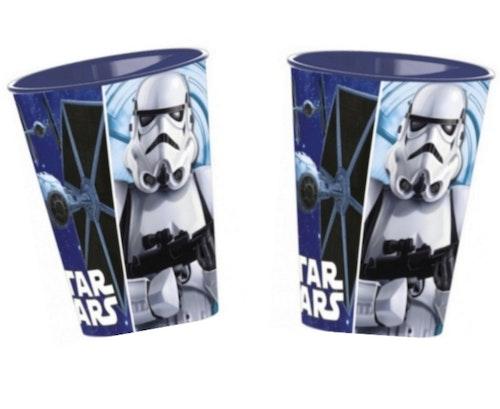 2 STYCKEN Star Wars Plastmuggar