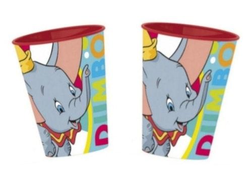 2 STYCKEN Plastmuggar Disney Dumbo