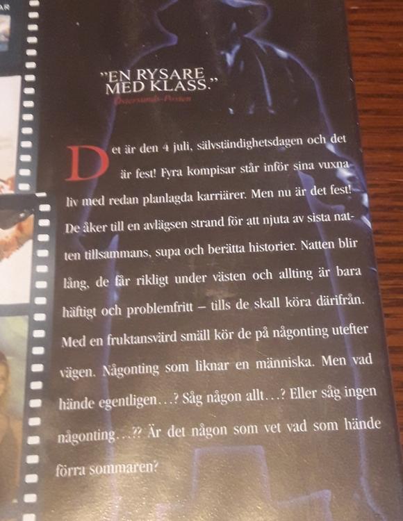 VHS  -  JAG VET VAD DU GJORDE FÖRRA SOMMAREN  ( BEGAGNAD  )