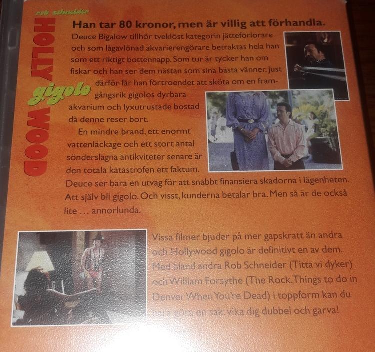 VHS - HOLLY WOOD GIGOLO  ( BEGAGNAD)