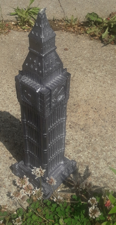 Ljus XXL Big Ben - Stål Metallic