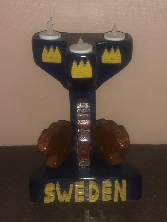 HANDGJORD TRÄLJUSSTAKE SWEDEN