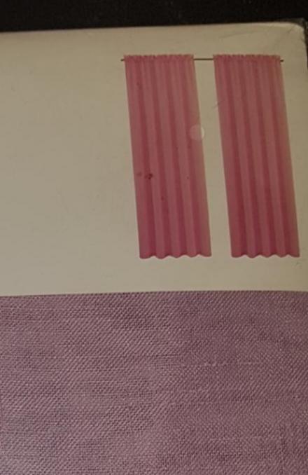 Gardin 2längder Rosa  137×220 cm