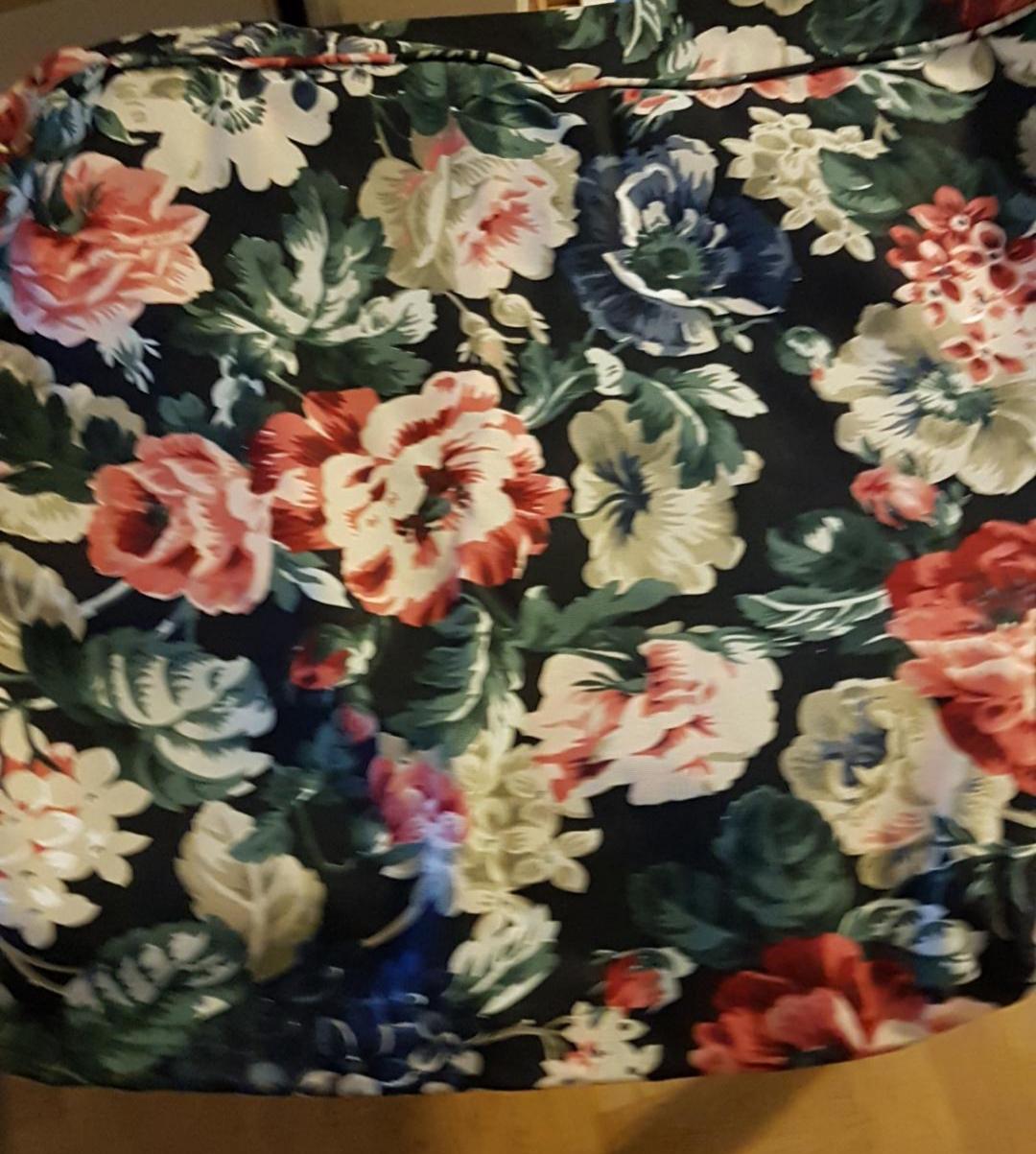 sofföverdrag möbelskydd blommig  mjuk stretch3sits ikea ektorps soffa.