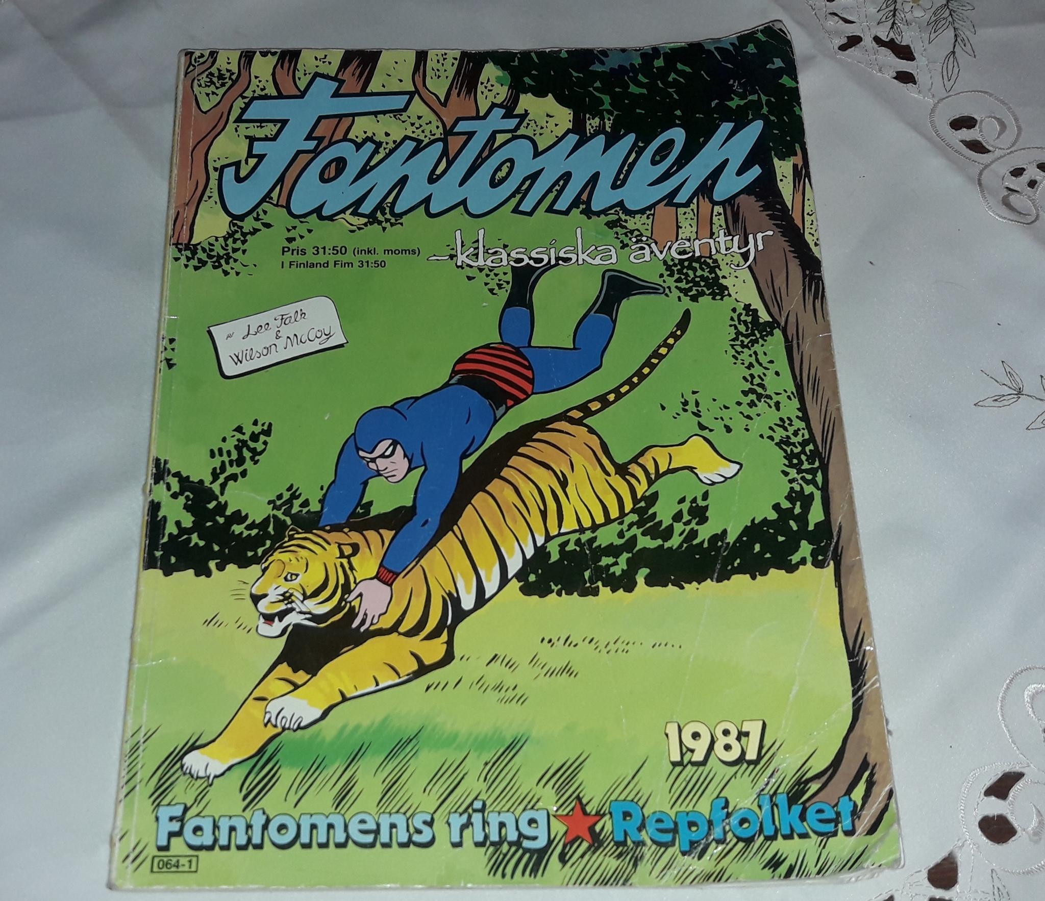 TIDNING FANTOMEN 1987  -  klassiska äventyr