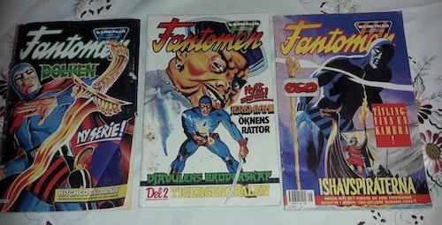3 TIDNINGAR FANTOMEN 2 ST 1984 OCH 1 från 1988