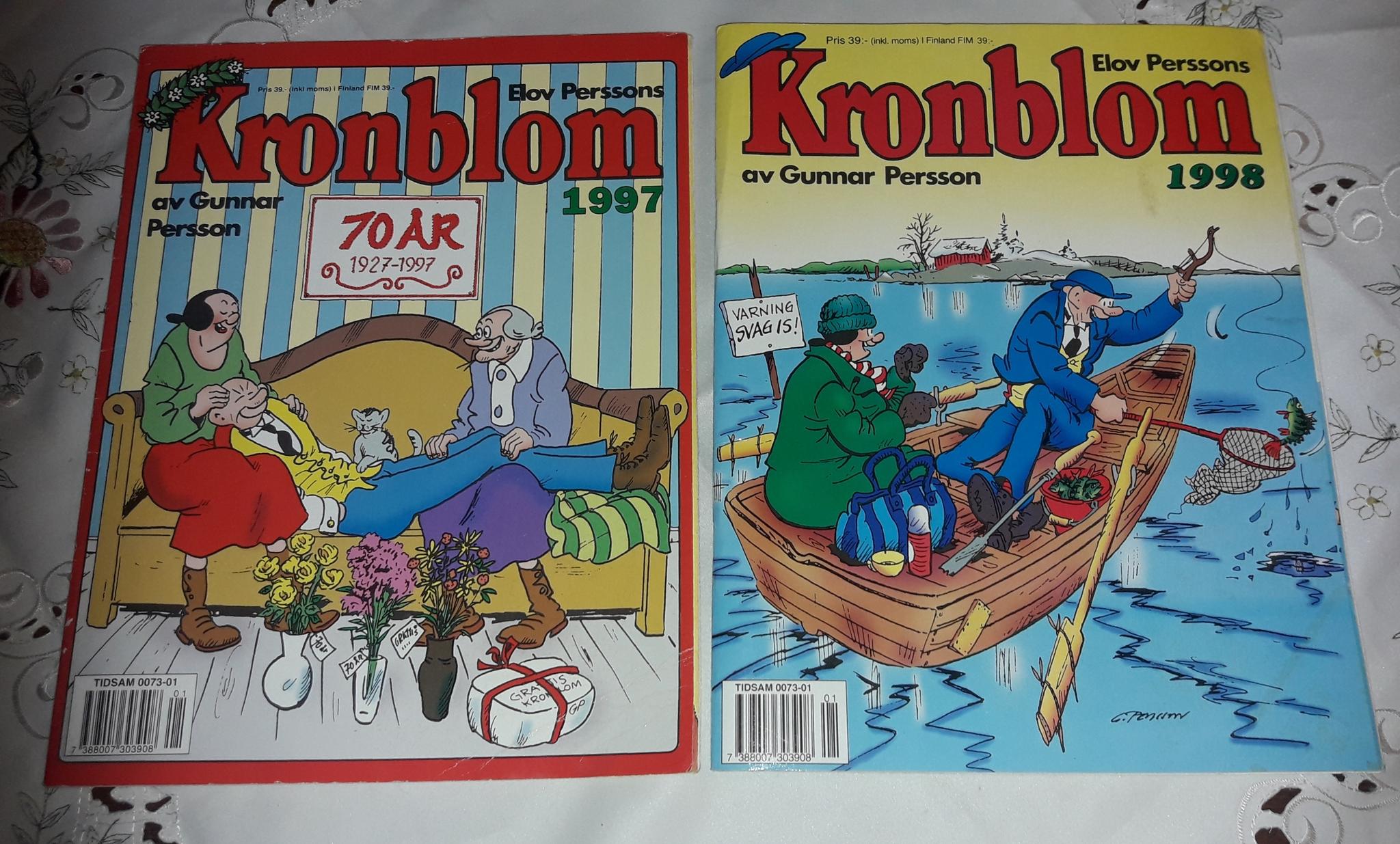 3 TIDNINGAR KRONBLOM -95  -97  - 98