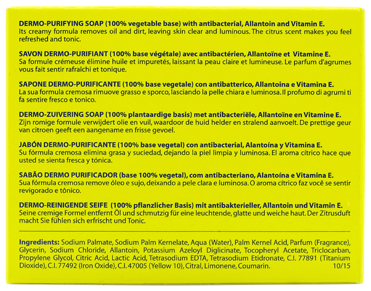Lemon Dermo-Purifying Soap 100g