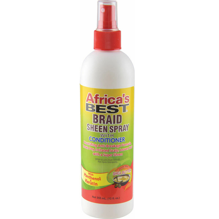 Africa's Best Braid Sheen Spray Conditioner 355ml