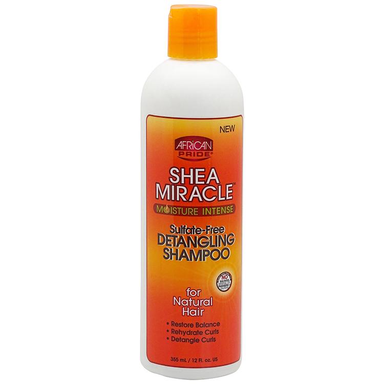 African Pride Shea Miracle Moisture Intense Detangling Shampoo 355ml
