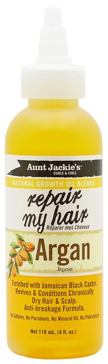 Aunt Jackie's Growth Oil repair my hair Argan 118ml Aunt Jackie's