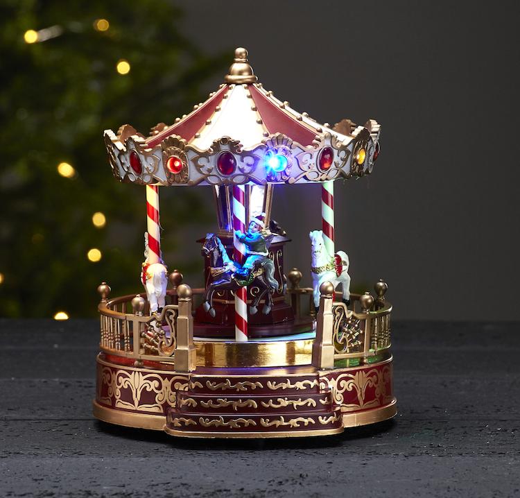Snurrande karusell med åtta julsånger - finns i God gärnings designbutik