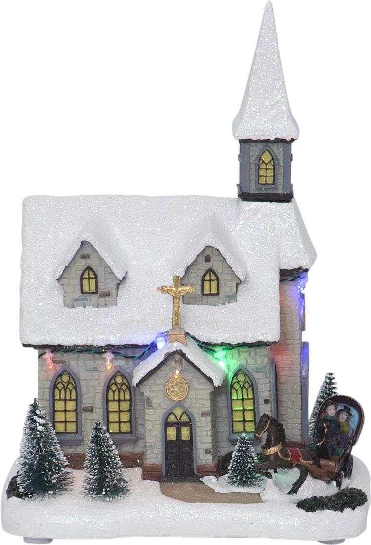 Julkyrka med fina detaljer - finns i God gärnings designbutik