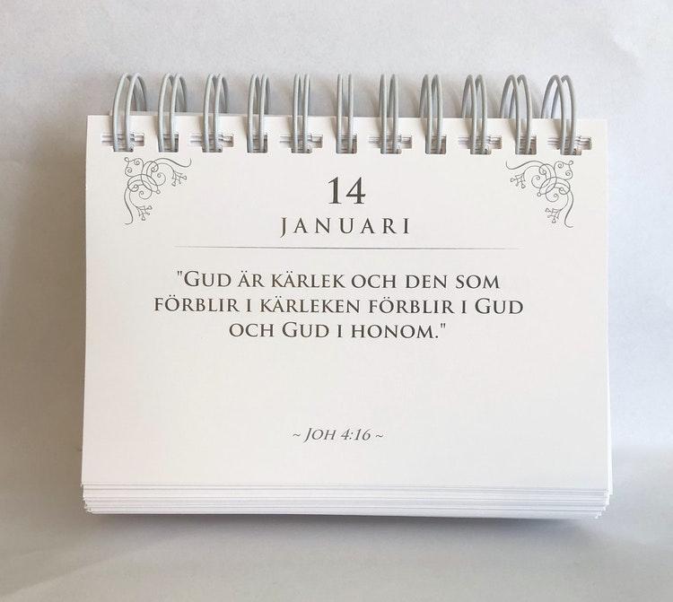 Bibelkalendern - finns i Kristna designbutiken.