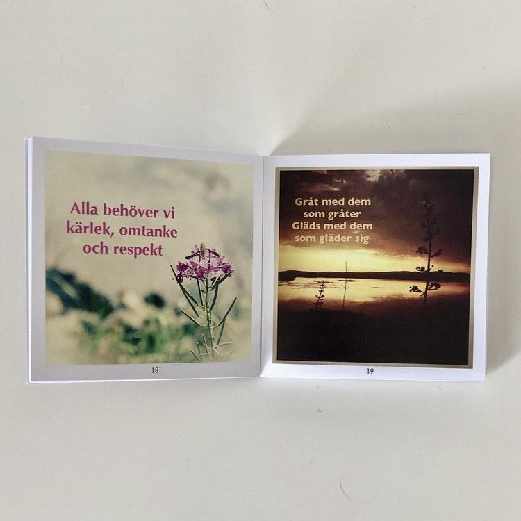 99 bilder med tänkvärda texter - finns i Kristna designbutiken