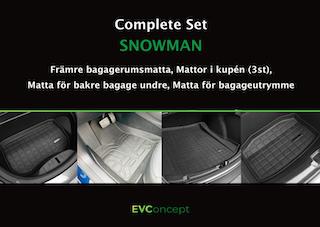 """Mattpaket """"Snowman Plus"""" (inkl stänkskydd) Passar ej uppdaterat främre bagage"""