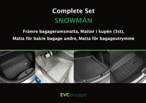 """Mattpaket """"Snowman Plus"""" (inkl stänkskydd)"""