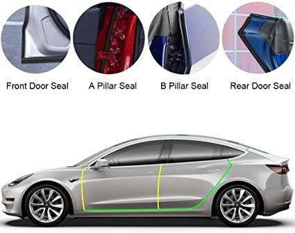 Tätningslistpaket dörr och bagage Model 3