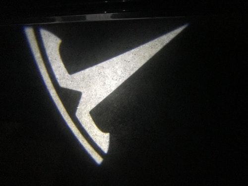 Logo belysning dörr (par)