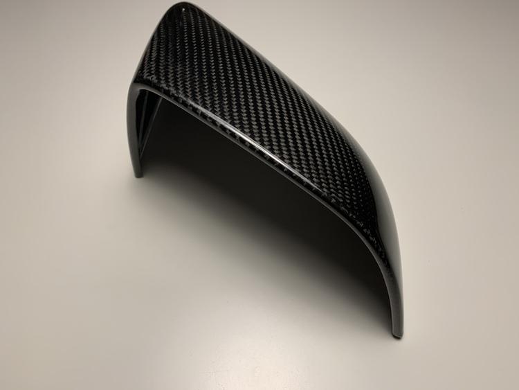 Backspegelkåpor i äkta kolfiber (blank)