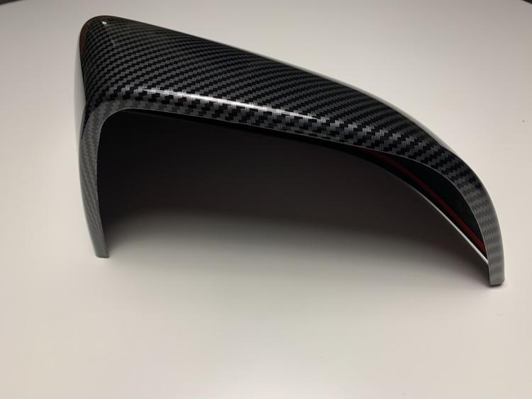 Backspegelkåpor i kolfiberlook (blank)