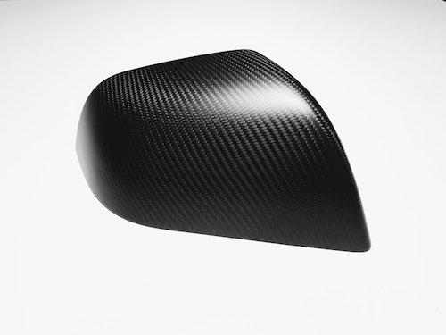 Backspegelkåpor i äkta kolfiber (matt)