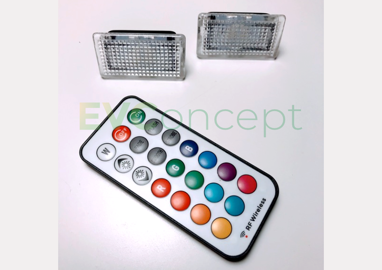 Interiörbelysning multi-färg (par)