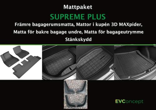 """Mattpaket """"Supreme Plus"""" (inkl stänkskydd) Passar ej uppdaterat främre bagage"""