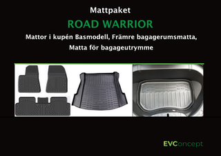 """Mattpaket """"RoadWarrior"""" Passar ej uppdaterat främre bagage"""