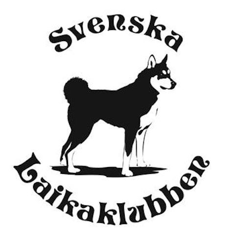 Klistermärke Svenska Laikaklubben VIT 9,5x9,5cm