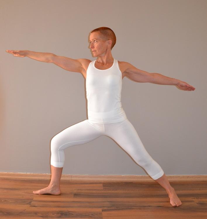 vitt bambulinne för träning och yoga