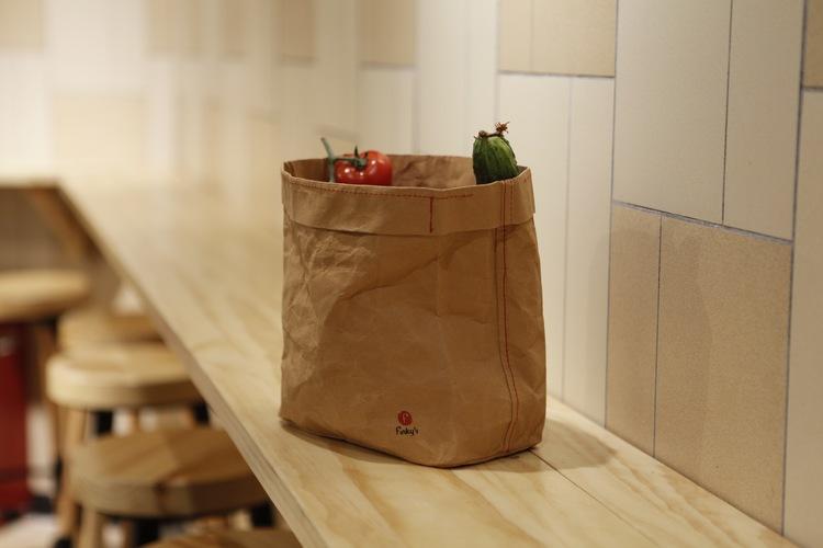Frukt och brödpåse i världsunikt material. Papper och latex