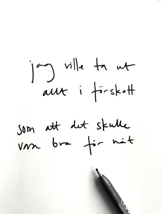 Handskriven affisch/poster