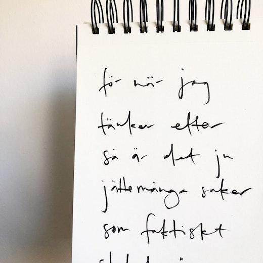för när jag tänker efter så är det ju jättemånga saker som faktiskt slutat göra ont
