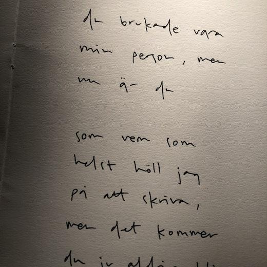 du brukade vara min person, men nu är du som vem som helst tänkte jag skriva