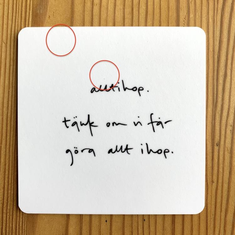 Andrasortering underlägg: alltihop. tänk om vi får göra allt ihop.