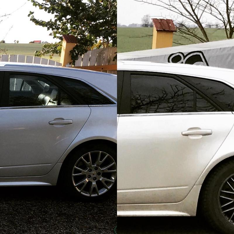 Cadillac CTS med tonade rutor