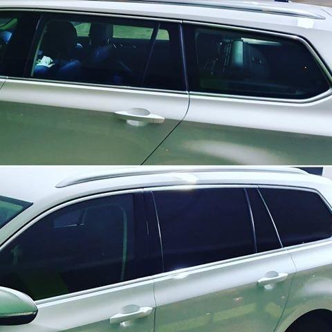 VW Passat kombi med solfilm