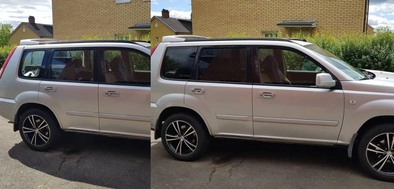 Nissan Xtrail före och efter EVOFILM