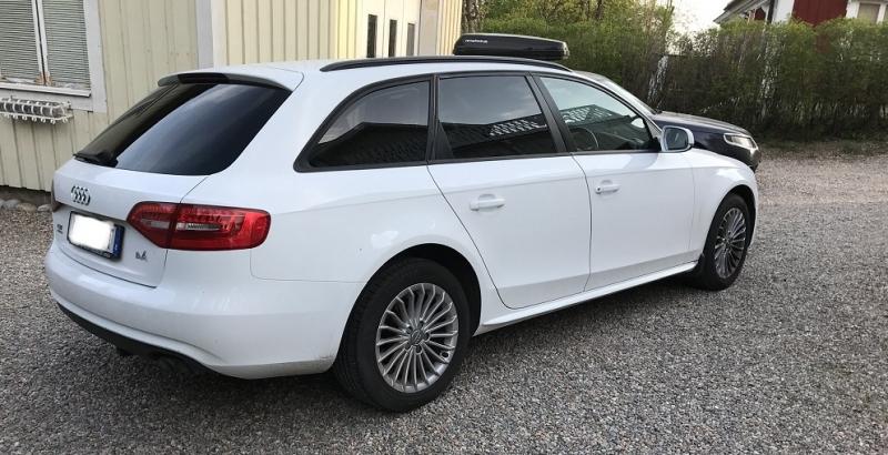 Audi A4 med tonande rutor