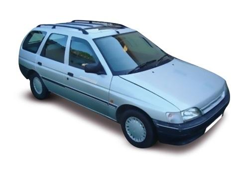 Solfilm till Ford Escort kombi. Färdigskuren solfilm till alla Ford bilar från EVOFILM®.
