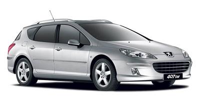 Solfilm till Peugeot 407 SW. Färdigskuren solfilm till alla Peugeot bilar från EVOFILM®.