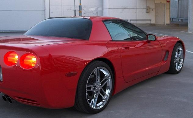 Solfilm till Corvette FRC coupé. Färdigskuren solfilm till alla Corvette bilar