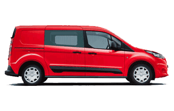 Solfilm till Ford Transit Connect Crew L2.