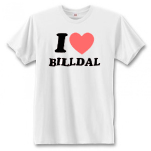 "T-Shirt - ""I Love Billdal"""
